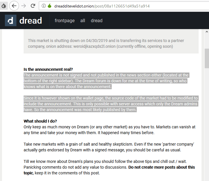 Dream Market Shuts Down: Has the DEA Claimed Another Darknet