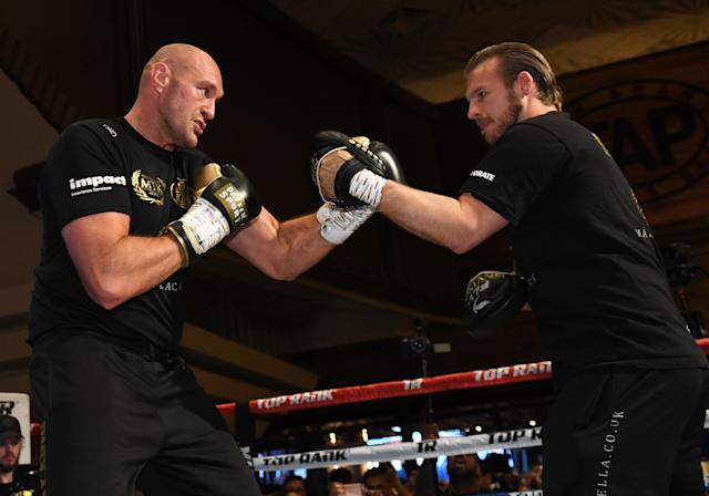 Tyson Fury and Ben Davison are no longer working together, but remain friends. (Ethan Miller/Getty Images)