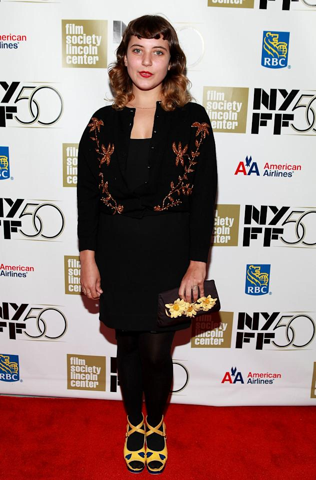 "NEW YORK, NY - SEPTEMBER 30:  Hannah Dunne attends the ""Frances HA"" - Gala Presentation - 50th New York Film Festival at Alice Tully Hall on September 30, 2012 in New York City.  (Photo by Robin Marchant/Getty Images)"
