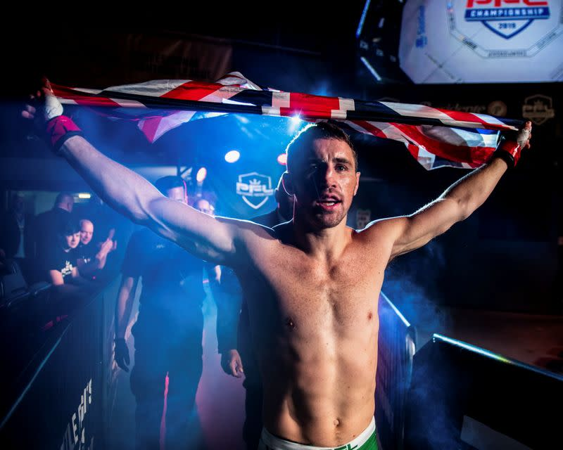 British fighter Brendan Loughnane is seen at the Hulu Theatre, Madison Square Garden, New York