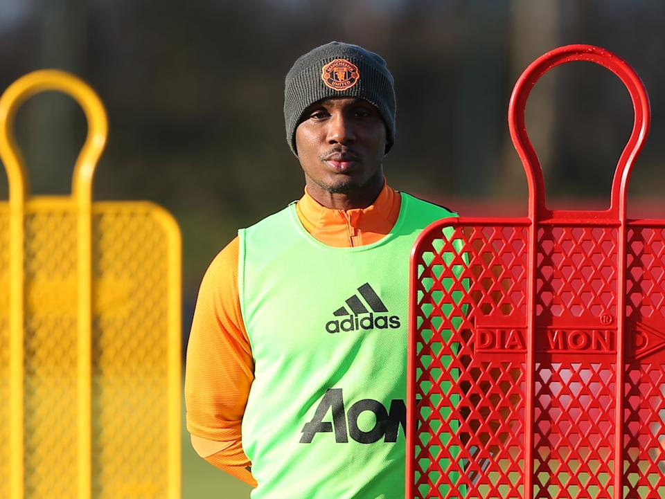 Manchester United stiker Odion Ighalo (Manchester United via Getty Images)