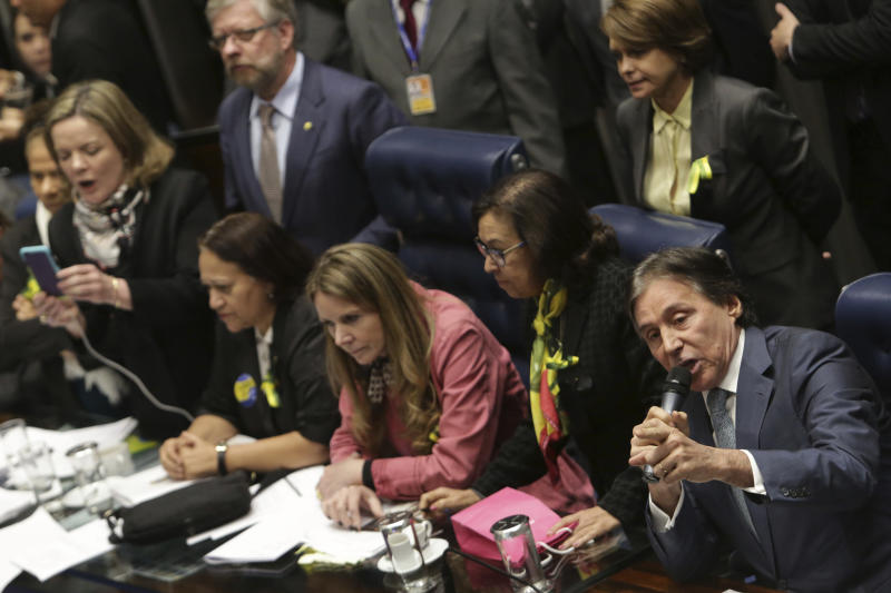 Key lawmaker says Brazilian president should be put on trial
