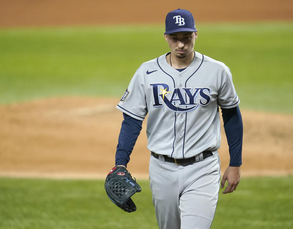 Infamously pulled from a dominant outing in World Series Game 6 in the sixth inning, Blake Snell will now have many more matchups against the Dodgers.