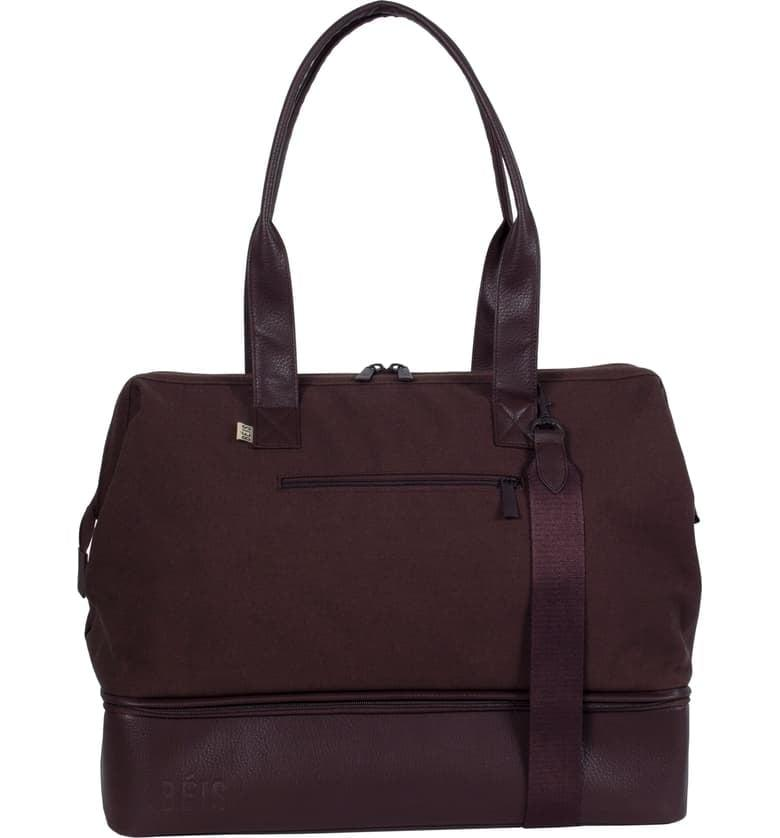 """<p>This <a href=""""https://www.popsugar.com/buy/B%C3%A9-Weekend-Convertible-Travel-Bag-542462?p_name=B%C3%A9is%20Weekend%20Convertible%20Travel%20Bag&retailer=shop.nordstrom.com&pid=542462&price=118&evar1=travel%3Aus&evar9=47133327&evar98=https%3A%2F%2Fwww.popsugar.com%2Ftravel%2Fphoto-gallery%2F47133327%2Fimage%2F47133334%2FB%C3%A9is-Weekend-Convertible-Travel-Bag&list1=shopping%2Ctravel%2Cluggage%2Csuitcases%2Ctravel%20style%2Cshay%20mitchell%2Cb%C3%A9is&prop13=api&pdata=1"""" rel=""""nofollow"""" data-shoppable-link=""""1"""" target=""""_blank"""" class=""""ga-track"""" data-ga-category=""""Related"""" data-ga-label=""""https://shop.nordstrom.com/s/beis-weekend-convertible-travel-bag/5390977/full?origin=keywordsearch-personalizedsort&amp;breadcrumb=Home%2FAll%20Results&amp;color=green"""" data-ga-action=""""In-Line Links"""">Béis Weekend Convertible Travel Bag</a> ($118) is a great weekender bag, and also can double as your personal item on flights. It has a separate compartment for shoes and/or dirty laundry, which is genius.</p>"""