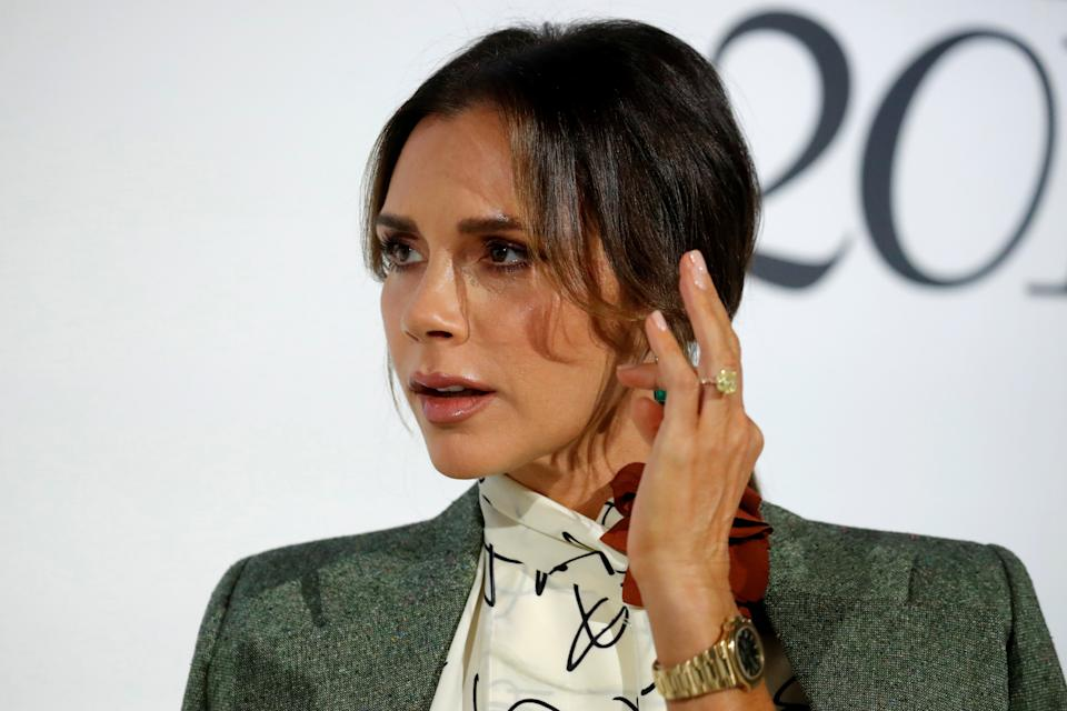 Designer Victoria Beckham attends the 4th edition of the Vogue Fashion Festival in Paris, France, November 15, 2019. REUTERS/Gonzalo Fuentes