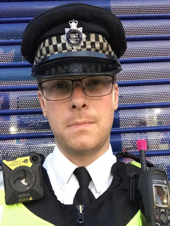 PC Stuart Outten, 28, was attacked in the early hours of 8 August (Metropolitan Police)