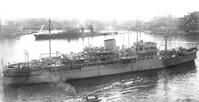 The Bulolo, seen here staming twoards Normandy, was part of the strike force with Commodore Douglas-Pennant.