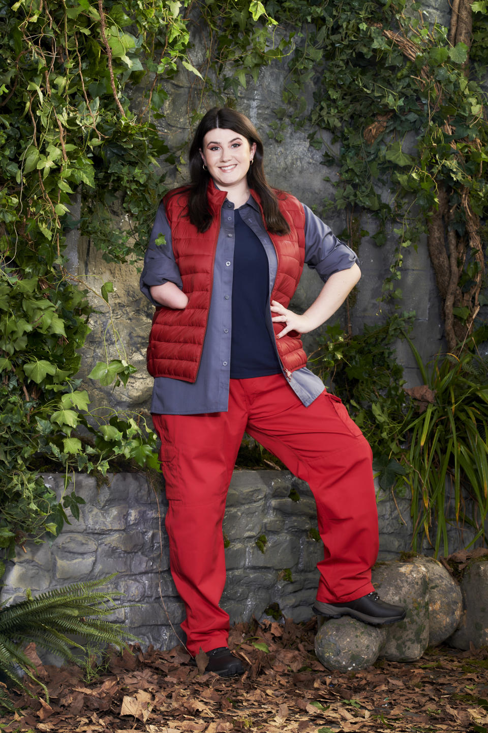 Hollie Arnold MBE in a promotional still for I'm A Celebrity... Get Me Out Of Here! (ITV)