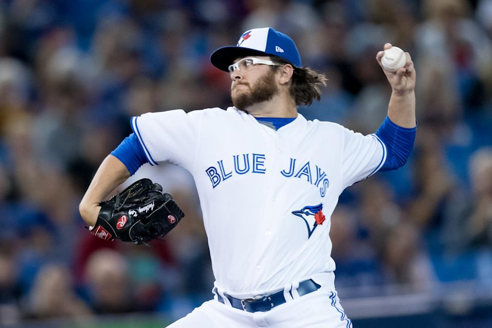 TORONTO, ON - SEPTEMBER 13: Toronto Blue Jays Pitcher Anthony Kay (70) throws a pitch during the MLB regular season game between the Toronto Blue Jays and the New York Yankees on September 13, 2019, at Rogers Centre in Toronto, ON, Canada. (Photo by Julian Avram/Icon Sportswire via Getty Images)