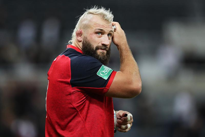 NEWCASTLE UPON TYNE, ENGLAND - SEPTEMBER 06: Joe Marler of England looks on after the 2019 Quilter International match between England and Italy at St James' Park on September 06, 2019 in Newcastle upon Tyne, England. (Photo by Shaun Botterill/Getty Images)
