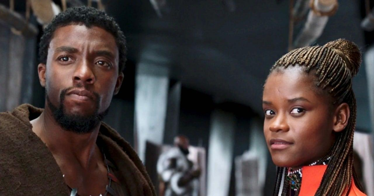 Wright and Boseman in Black Panther (Credit: Marvel/Disney)