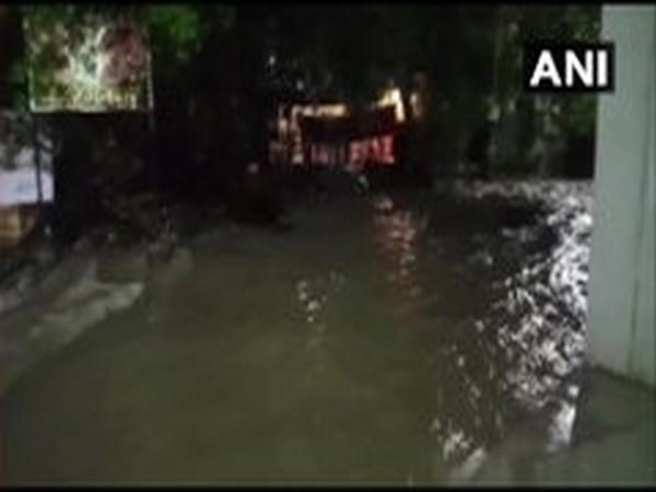 A visual of waterlogging in Pune on Wednesday. Photo/ANI