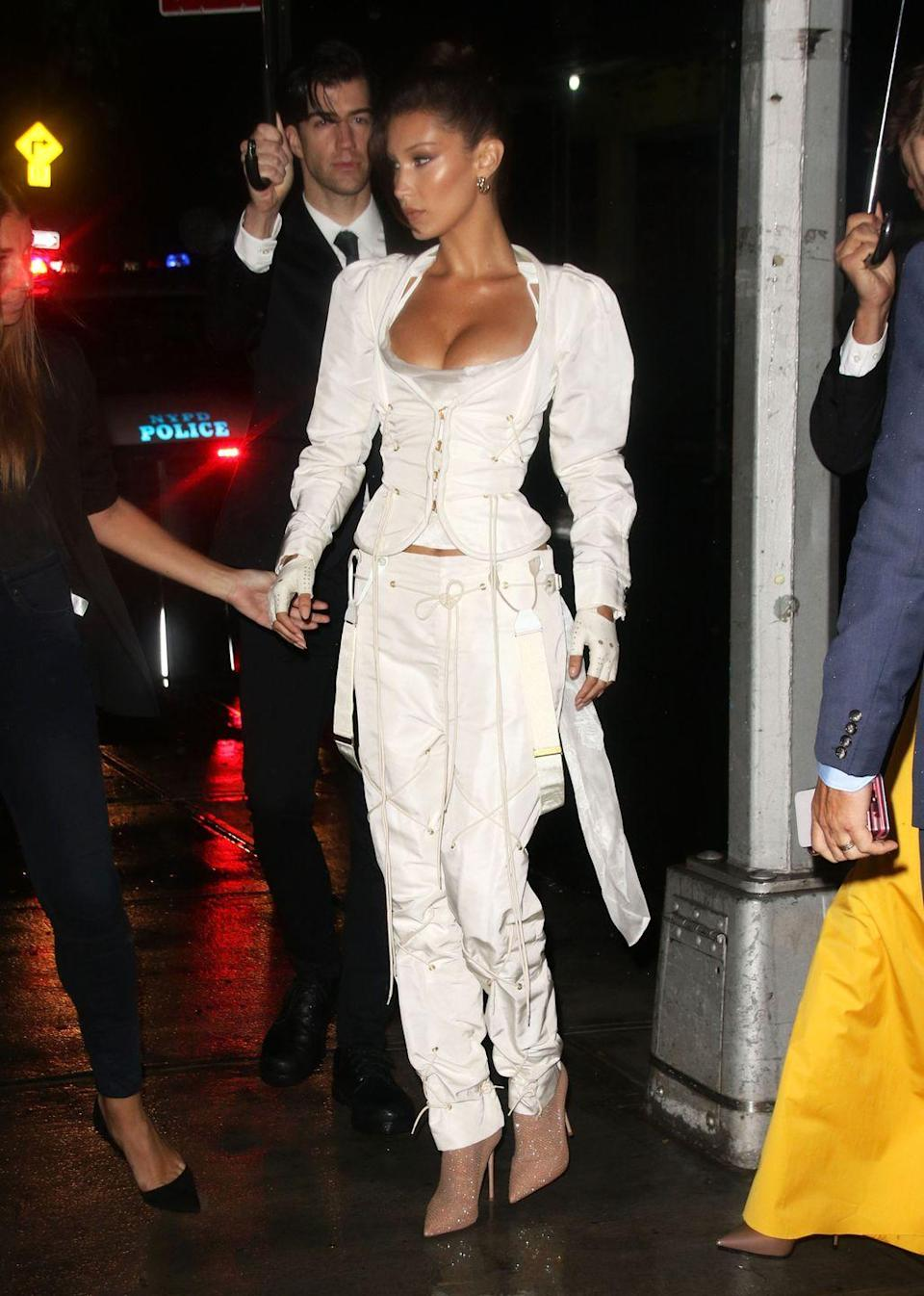 <p>The model wore Vivienne Westwood to the event in September, 2018.</p>