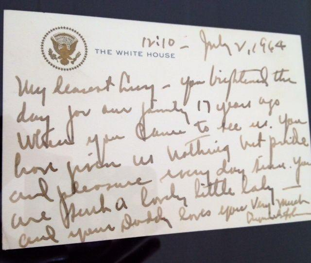 President Lyndon Johnson's letter to Luci Baines on July 2, 1964.
