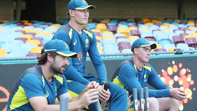 Joe Burns, Marnus Labuschagne and Matt Renshaw, pictured here during a Test series against Sri Lanka in 2019.