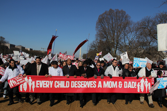 National Organization for Marriage march to the Supreme Court begins from National Mall. (Chris Moody/Yahoo News)
