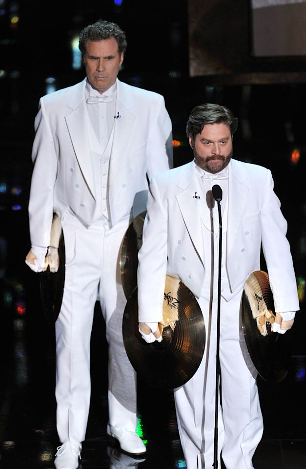 Will Ferrell and Zach Galifiankis on stage during the 84th Annual Academy Awards in Hollywood, CA.