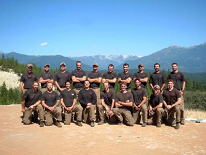 Unidentified members of the Granite Mountain Interagency Hotshot Crew from Prescott, Ariz., pose together in this undated photo provided by the City of Prescott. Some of the men in this photograph were among the 19 firefighters killed while battling an out-of-control wildfire near Yarnell, Ariz., on Sunday, June 30, 2013, according to Prescott Fire Chief Dan Fraijo. It was the nation's biggest loss of firefighters in a wildfire in 80 years. (AP Photo/City of Prescott)