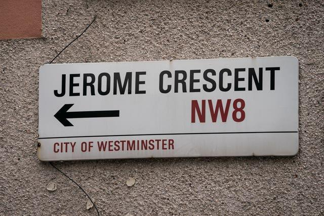 Jerome Crescent in London (Aaron Chown/PA)