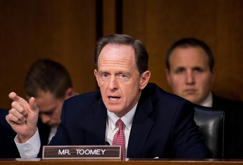 Pat Toomey: Families aren't being separated at the border very much. OK, maybe they are. OK, also we could be headed for a humanitarian crisis. Who knows!