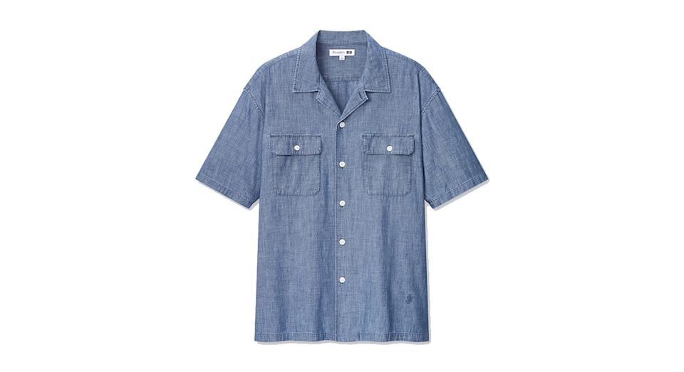 JW ANDERSON CHAMBRAY SHORT SLEEVED WORK SHIRT