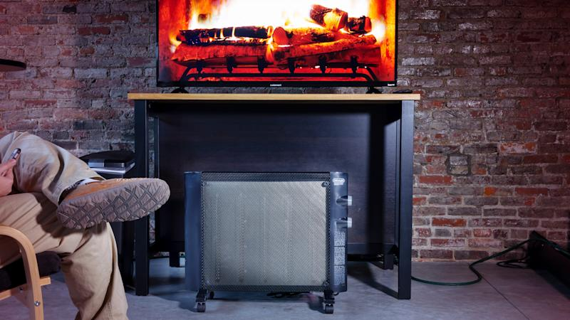 With installable wheels, this heater is easy to roll from room to room.