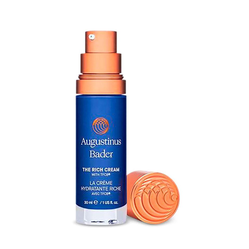 """<p>My mother and I both use this. It has a great healing effect and ensures that you wake up a little smoother.</p><p><a class=""""link rapid-noclick-resp"""" href=""""https://go.redirectingat.com?id=74968X1596630&url=https%3A%2F%2Fwww.nordstrom.com%2Fs%2Faugustinus-bader-the-cream%2F5409090&sref=https%3A%2F%2Fwww.elledecor.com%2Fshopping%2Fg37512796%2Flaura-kim-favorite-things%2F"""" rel=""""nofollow noopener"""" target=""""_blank"""" data-ylk=""""slk:BUY NOW"""">BUY NOW</a></p>"""
