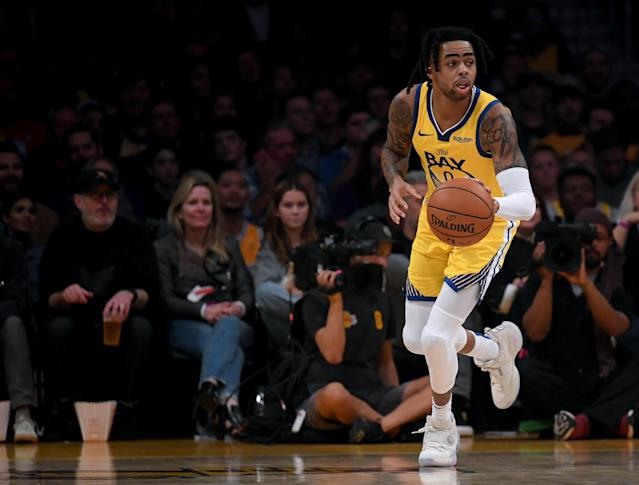 The Warriors suffered another injury blow as guard D'Angelo Russell will miss at least two weeks with a thumb sprain. (Photo by Harry How/Getty Images)