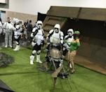 These scouts take turns on the speeder bike. Just watch out for the Ewoks.