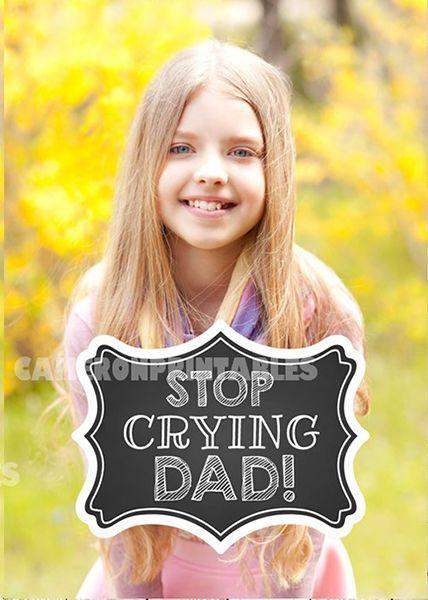 """<p>They grow up so fast! (And no, we'll never stop crying.) You can always make your sign funny, if you think the all-the-details signs are too much. </p><p><a class=""""link rapid-noclick-resp"""" href=""""https://go.redirectingat.com?id=74968X1596630&url=https%3A%2F%2Fwww.etsy.com%2Flisting%2F548707789%2Fstop-crying-mom-stop-crying-dad&sref=https%3A%2F%2Fwww.goodhousekeeping.com%2Flife%2Fparenting%2Fg1580%2Ffirst-day-of-school-photo-ideas%2F"""" rel=""""nofollow noopener"""" target=""""_blank"""" data-ylk=""""slk:SHOP SIGN"""">SHOP SIGN</a></p>"""