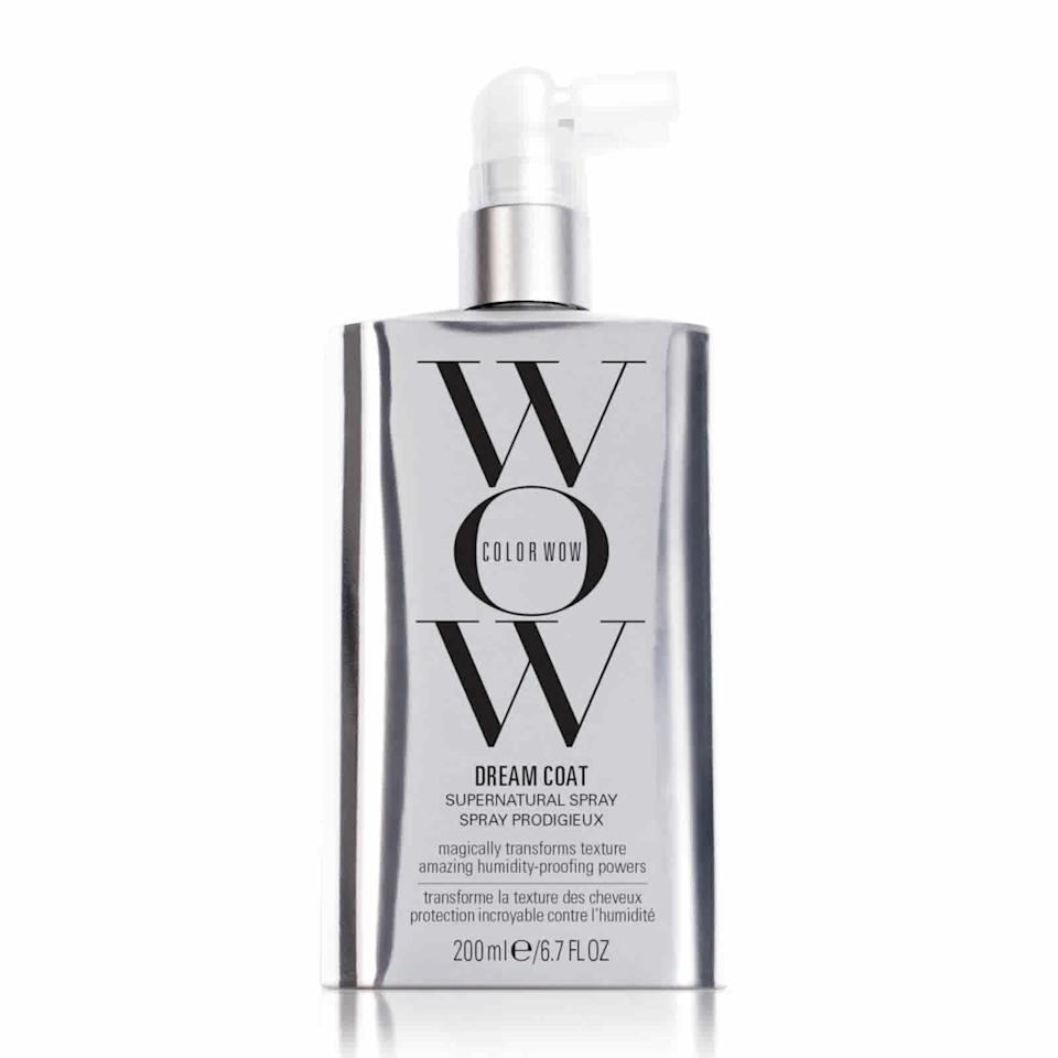 """<br><br><strong>Color Wow</strong> Dream Coat Supernatural Spray 200ml, $, available at <a href=""""https://www.feelunique.com/p/Color-Wow-Dream-Coat-Supernatural-Spray-200ml"""" rel=""""nofollow noopener"""" target=""""_blank"""" data-ylk=""""slk:FeelUnique"""" class=""""link rapid-noclick-resp"""">FeelUnique</a>"""