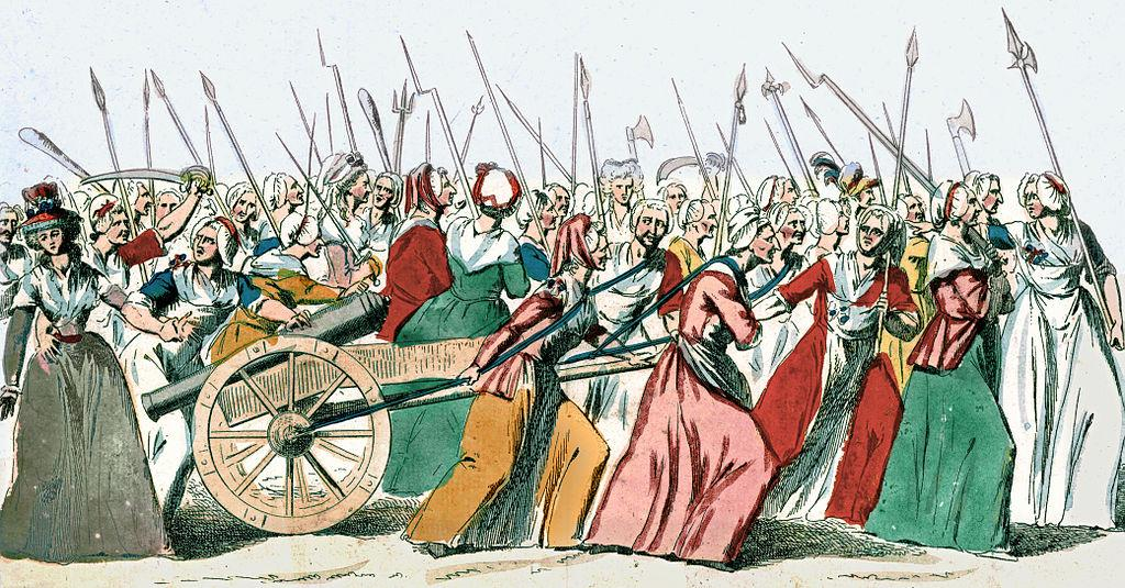 <p>One of the earliest and most significant events that triggered the French Revolution was the Women's March of Versailles, also known as The October March or The March on Versailles. On the morning of October 5, 1789, around 7,000 women gathered in the marketplaces of Paris and occupied the city hall demanding that the high price of food and scarcity of bread be addressed.<br />When their demands were ignored, the women marched towards the city of Versailles to appeal to King Louis XVI. The crowd besieged the palace and in a dramatic confrontation put forth their demands to the King. When he refused, the mob forced the King, his family and members of the French Assembly to return with them to Paris. This march triggered a revolution which would end the French monarchy and bring about far-reaching social and political changes in the country. </p>