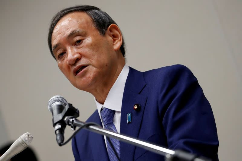 Japan PM contender Suga suggests overhaul of health ministry