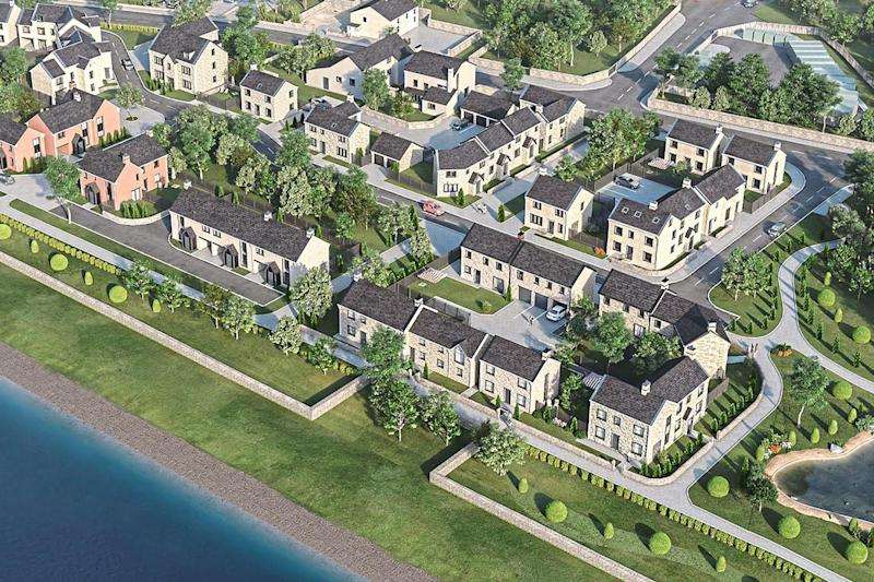 What the Preston development is supposed to look like. At present it remains a building site