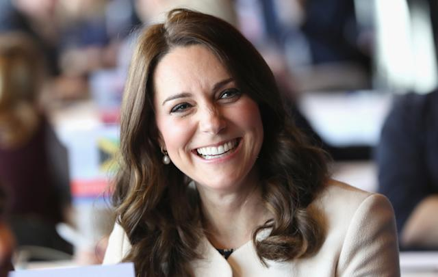 The Duchess of Cambridge made her final public appearance this morning before heading on maternity leave. (Photo: Chris Jackson/PA)
