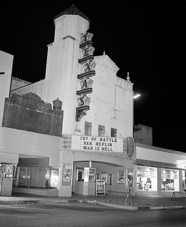 <p>The movie theater where Lee Harvey Oswald was arrested after President John F. Kennedy was shot and killed in Dallas, Nov. 22, 1963. (Photo: AP) </p>