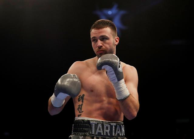 Boxing - Josh Taylor vs Winston Campos - WBC Silver Super-Lightweight Title - Glasgow, Britain - March 3, 2018 Josh Taylor during the fight Action Images via Reuters/Lee Smith