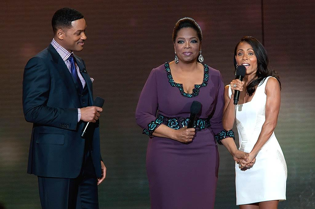 """Did you really think that Will and Jada Pinkett Smith wouldn't jump at the chance to send Oprah off in front of millions? Daniel Boczarski/<a href=""""http://www.gettyimages.com/"""" target=""""new"""">GettyImages.com</a> - May 17, 2011"""
