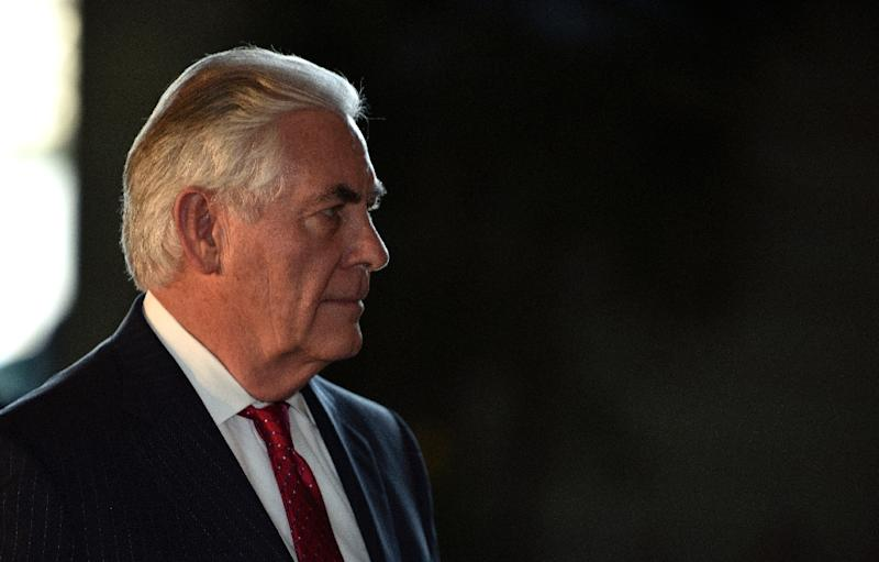 US Secretary of State Rex Tillerson (pictured) is the most senior American official to visit Turkey since the inauguration of President Trump in January (AFP Photo/Franck Robichon)