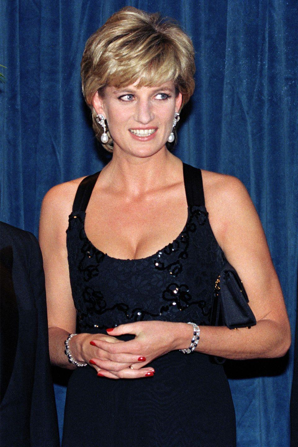 <p>Attending a charity dinner at the Hilton Hotel in New York. </p>