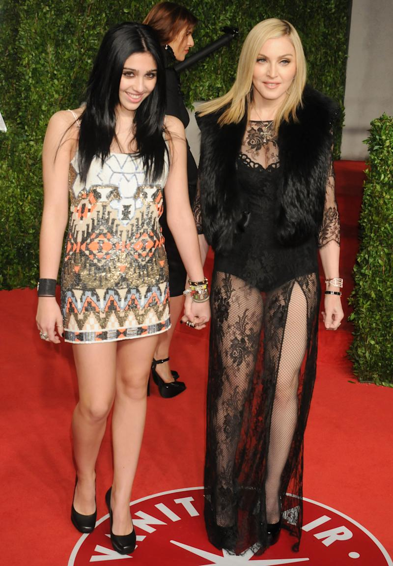 Madonna and daughter Lourdes Leon pictured at the Vanity Fair Oscar Party 2011