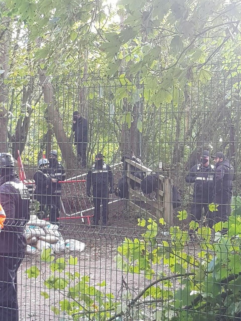 Environmental activists opposed to HS2 are evicted from the camp (PA) (PA Media)