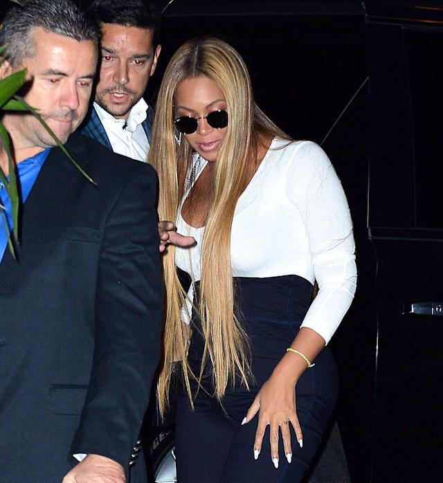 """Beyoncéat the """"SNL"""" Season 43 after-party at Tao in New York City."""