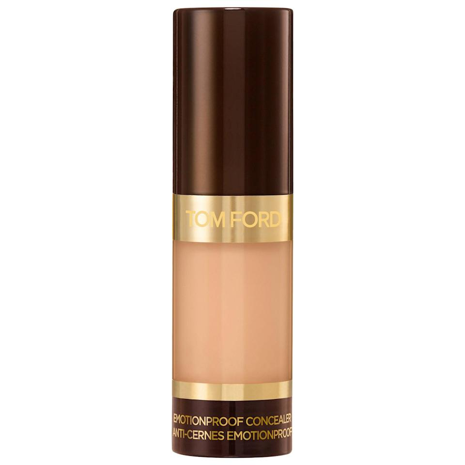"<p><a href=""https://www.popsugar.com/buy/Tom-Ford-Emotionproof-Concealer-573263?p_name=Tom%20Ford%20Emotionproof%20Concealer&retailer=sephora.com&pid=573263&price=54&evar1=bella%3Auk&evar9=47465079&evar98=https%3A%2F%2Fwww.popsugar.com%2Fbeauty%2Fphoto-gallery%2F47465079%2Fimage%2F47465086%2FTom-Ford-Emotionproof-Concealer&list1=sephora%2Cconcealer%2Cbeauty%20shopping&prop13=api&pdata=1"" class=""link rapid-noclick-resp"" rel=""nofollow noopener"" target=""_blank"" data-ylk=""slk:Tom Ford Emotionproof Concealer"">Tom Ford Emotionproof Concealer</a> ($54) is a worthy opponent to your sweat or tears as the radiant-finish, full-coverage product won't slip off or melt away no matter what your life throws at it. It also has a doe-foot application that other shoppers praise for how easy you can smoothly apply this liquid on any skin imperfections or undereye circles.</p>"