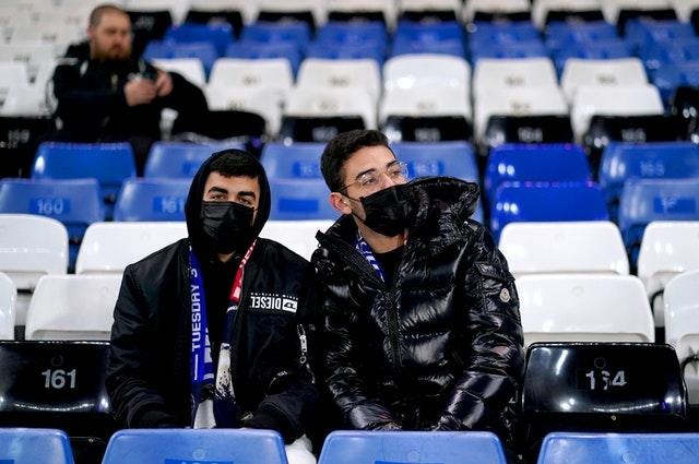 Supporters will be encouraged to wear face masks in communal areas of stadiums such as toilets and entry points