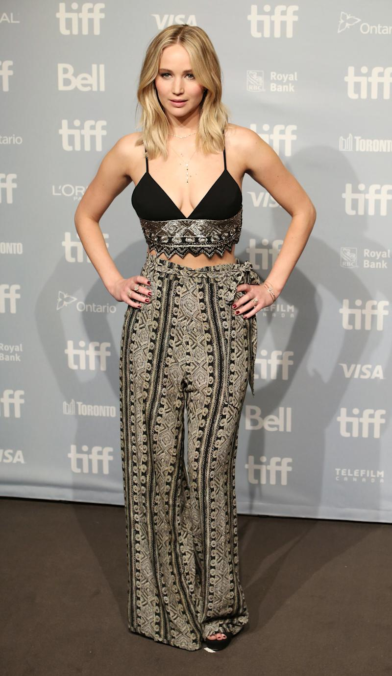 Jennifer Lawrence attends the 'mother!' photo call during the 2017 Toronto International Film Festival at TIFF Bell Lightbox on September 10, 2017 in Toronto, Canada. (Photo by Walter McBride/FilmMagic)