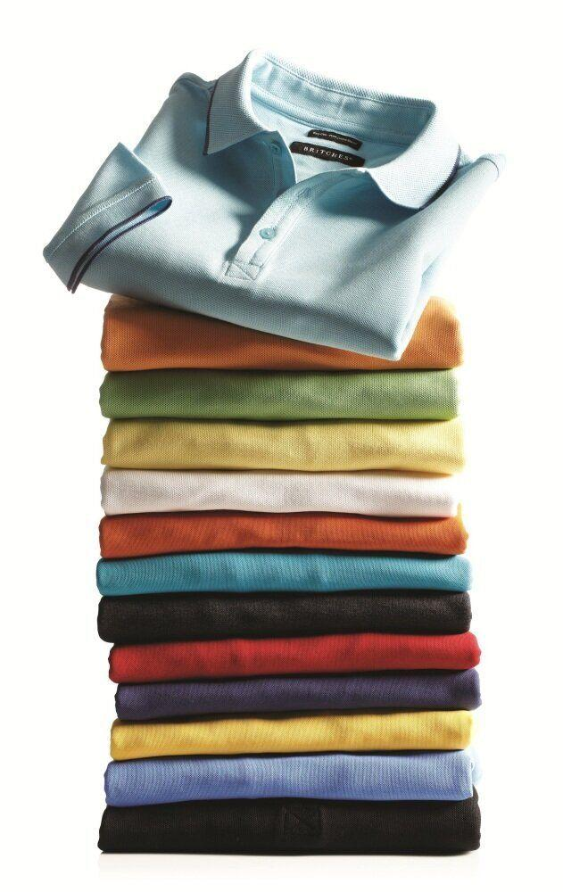 """<em>Polo shirts by Britches, $29.99 - $34.99. Available at <a href=""""http://www.tiptop.ca/"""" target=""""_hplink"""">Tip Top Tailors</a></em>"""
