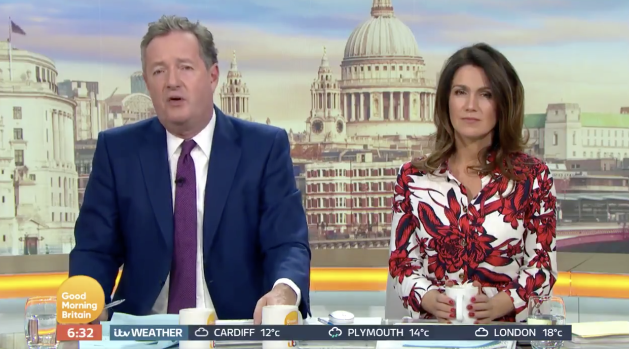Piers Morgan argued the BBC should be forced to do a U-turn over its decision to scrap free TV licenses for over-75s (ITV)