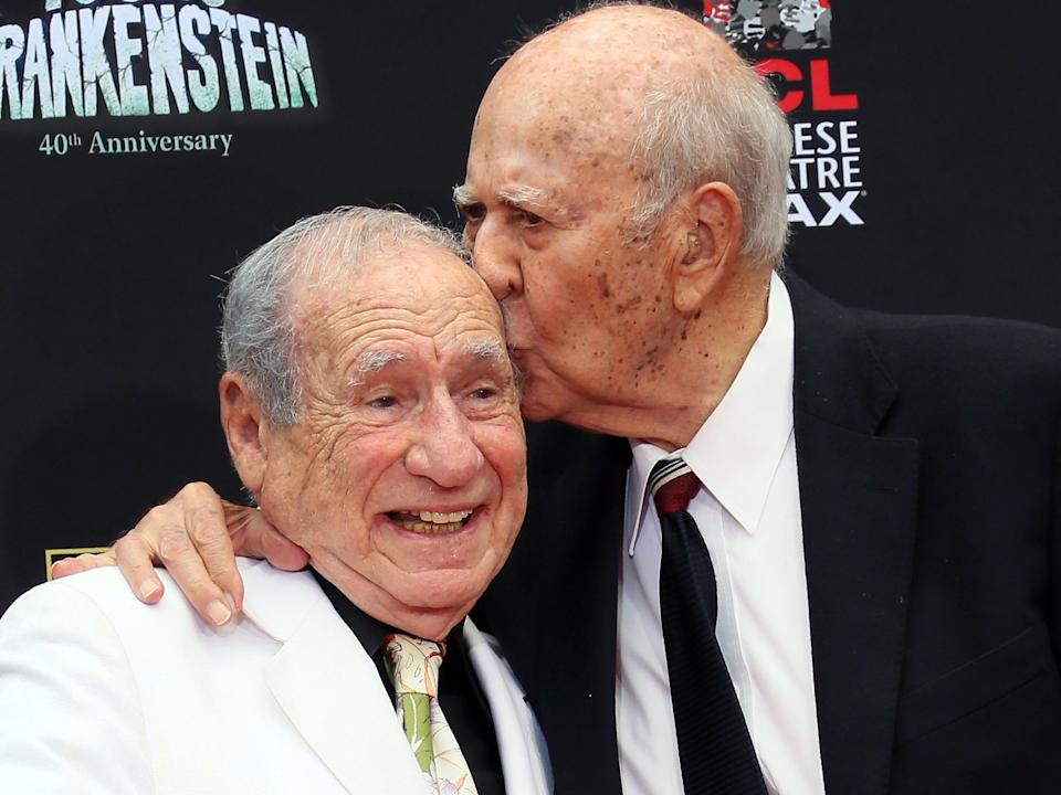 Mel Brooks and Carl Reiner in 2014.