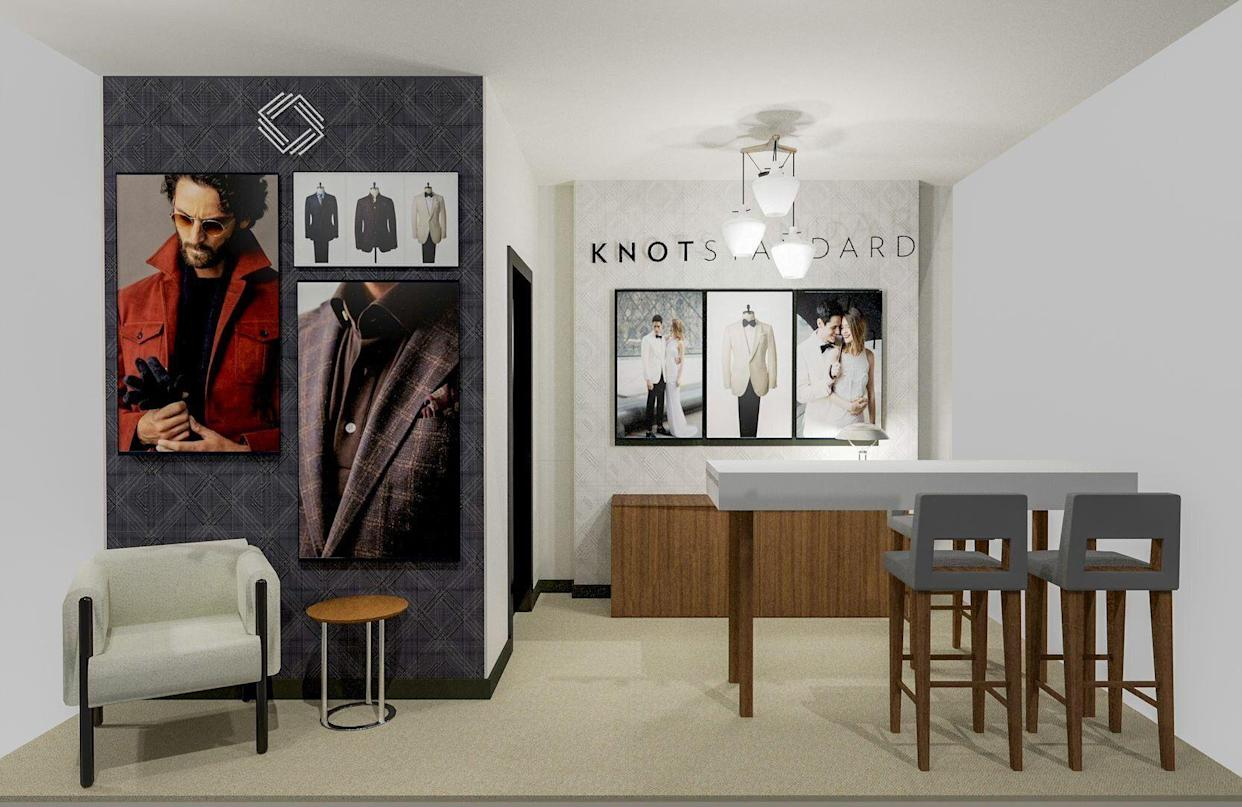 Knot Standard suit company has gone digital with the launch of the new Style Wall.